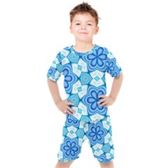 Pattern Abstract Wallpaper Kids  Tee And Shorts Set by Desi8477