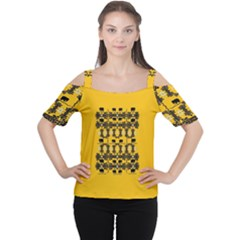 Jungle Elephants Cutout Shoulder Tee by pepitasart