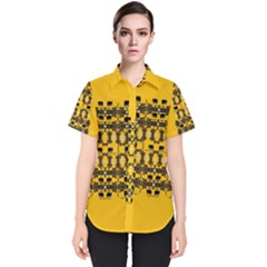 Jungle Elephants Women s Short Sleeve Shirt by pepitasart