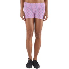 Hexagonal Pattern Unidirectional Yoga Shorts by Jojostore