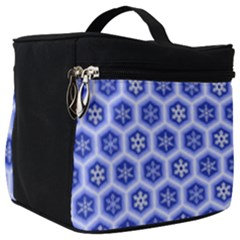 Hexagonal Pattern Unidirectional Blue Make Up Travel Bag (big) by Mariart