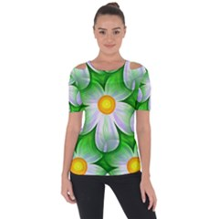 Seamless Repeating Tiling Tileable Shoulder Cut Out Short Sleeve Top
