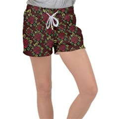 Seamless Tile Background Abstract Women s Velour Lounge Shorts