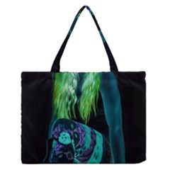 Digital Art Woman Body Part Photo Zipper Medium Tote Bag by dflcprintsclothing