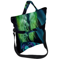 Digital Art Woman Body Part Photo Fold Over Handle Tote Bag by dflcprintsclothing