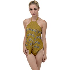 Motorcycles And Ornate Mouses Go With The Flow One Piece Swimsuit by pepitasart