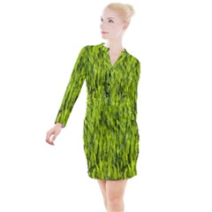 Agricultural Field   Button Long Sleeve Dress