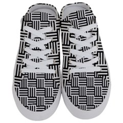 Black And White Basket Weave Half Slippers