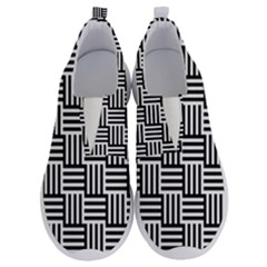 Black And White Basket Weave No Lace Lightweight Shoes