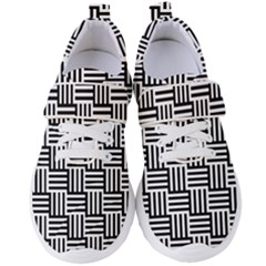 Black And White Basket Weave Women s Velcro Strap Shoes