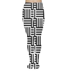 Black And White Basket Weave Tights