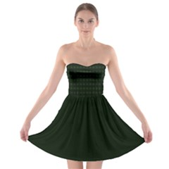 Green Glass Kaleidoscope Strapless Bra Top Dress