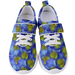 Flowers Pansy Background Purple Women s Velcro Strap Shoes by Mariart