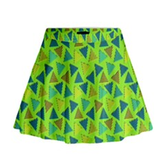 80s 90s Pattern 3 Mini Flare Skirt by tarastyle