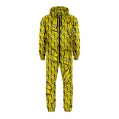Gilet Jaune Pattern Yellowvests Cowcow Gilet Jaune Pattern Funny Yellow Vests Hooded Jumpsuit (kids) by snek