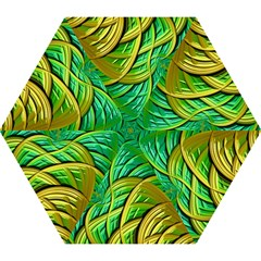 Patterns Green Yellow String Mini Folding Umbrellas by Alisyart
