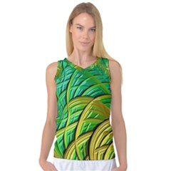 Patterns Green Yellow String Women s Basketball Tank Top