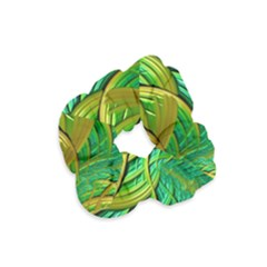 Patterns Green Yellow String Velvet Scrunchie by Alisyart