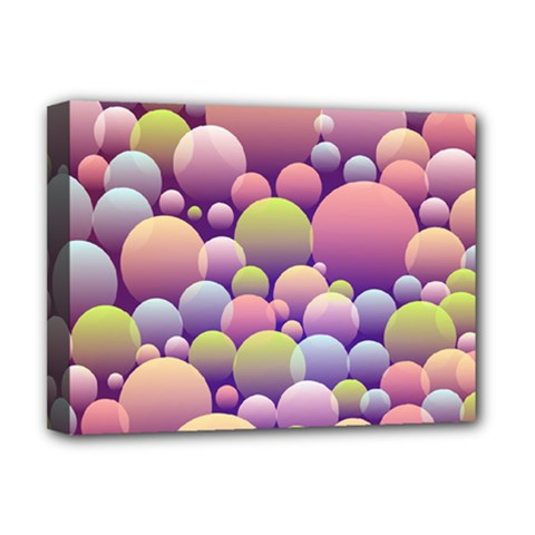 Abstract Background Circle Bubbles Deluxe Canvas 16  X 12  (stretched)