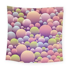 Abstract Background Circle Bubbles Square Tapestry (large)