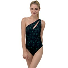 St Patricks Day Pattern To One Side Swimsuit by Valentinaart