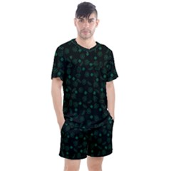 St Patricks Day Pattern Men s Mesh Tee And Shorts Set by Valentinaart