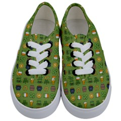 St Patricks Day Pattern Kids  Classic Low Top Sneakers
