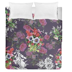 Vintage Flowers Pattern Duvet Cover Double Side (queen Size) by goljakoff
