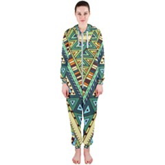 Native African Pattern Hooded Jumpsuit (ladies)  by goljakoff