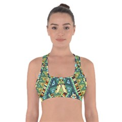 Native African Pattern Cross Back Sports Bra by goljakoff