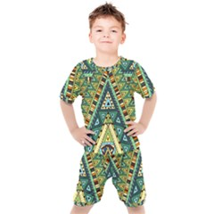 Native African Pattern Kids  Tee And Shorts Set by goljakoff