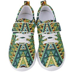 Native African Pattern Women s Velcro Strap Shoes by goljakoff