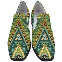 Native African Pattern Slip On Heel Loafers by goljakoff