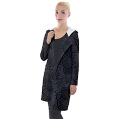 Hypnotic Black And White Hooded Pocket Cardigan
