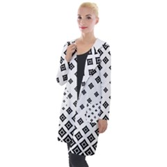 Black And White Tribal Hooded Pocket Cardigan by retrotoomoderndesigns