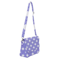 Textile Cross Seamless Pattern Shoulder Bag With Back Zipper