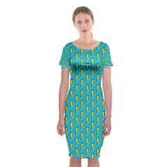80s 90s Pattern 5 Classic Short Sleeve Midi Dress by tarastyle