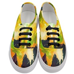 Forest Trees Nature Wood Green Women s Classic Low Top Sneakers