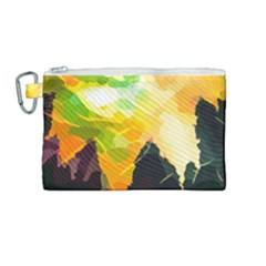 Forest Trees Nature Wood Green Canvas Cosmetic Bag (medium)