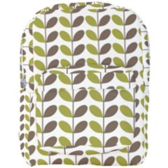 Leaf Plant Pattern Seamless Full Print Backpack by Pakrebo