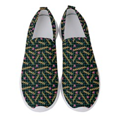 80s 90s Pattern 9 Women s Slip On Sneakers by tarastyle