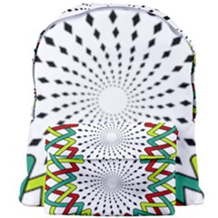 Round Star Colors Illusion Mandala Giant Full Print Backpack