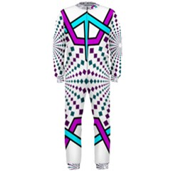 Star Illusion Form Shape Mandala Onepiece Jumpsuit (men)