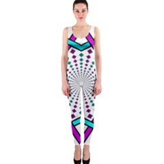 Star Illusion Form Shape Mandala One Piece Catsuit by Alisyart
