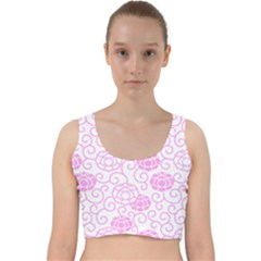 Peony Asia Spring Flowers Natural Velvet Racer Back Crop Top