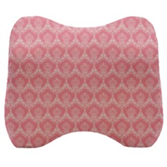 Damask Floral Design Seamless Velour Head Support Cushion