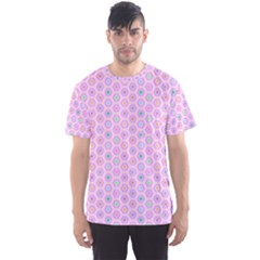 A Hexagonal Pattern Unidirectional Men s Sports Mesh Tee