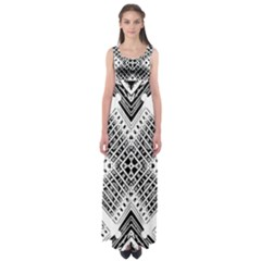 Pattern Tile Repeating Geometric Empire Waist Maxi Dress