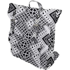 Pattern Tile Repeating Geometric Buckle Up Backpack by Pakrebo