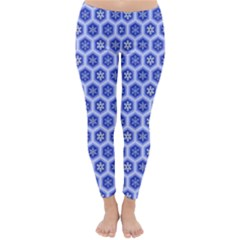 A Hexagonal Pattern Unidirectional Classic Winter Leggings